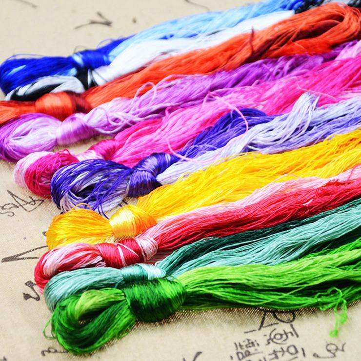 50 pieces threads / Spiraea embroidery / silk embroidery / cross stitch embroidery thread / embroidery thread(China (Mainland))