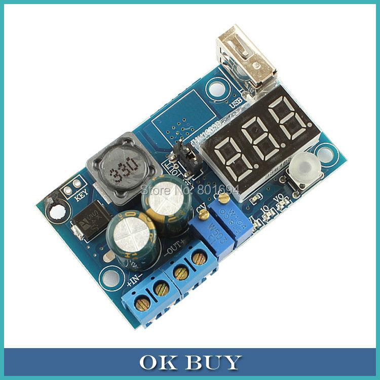 DC-DC Buck Voltage Converter CC CV Step Down Power Supply Module 4-40V to 1.2-38V With Voltmeter Ammeter USB Output<br><br>Aliexpress