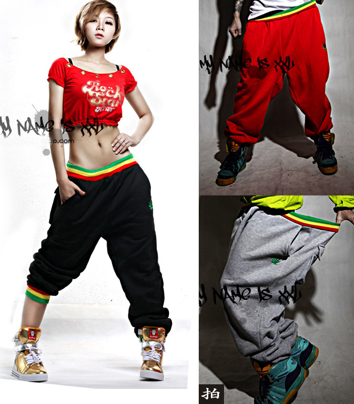 New Fashion Mens Women Casual Harem Baggy Size Hip Hop Dance Jogging Loose Sport Harem