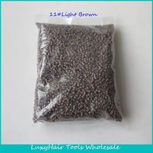 Wholesale 10000pcs/bag 503030 11#Light brown Aluminium Silicone Lined Micro Rings/Links/Beads for Feather Human Hair Extensions(China (Mainland))