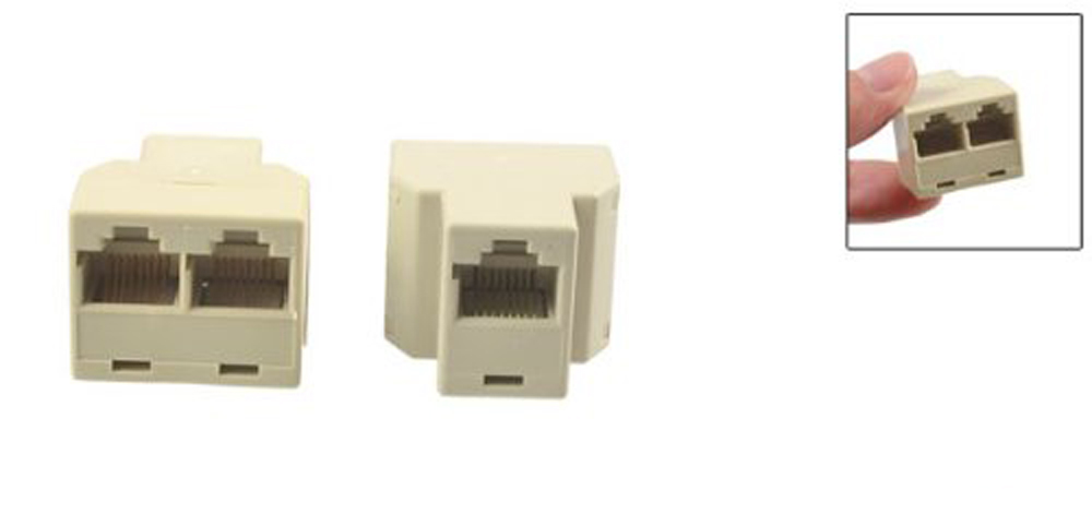 Big Promotion 5 Pcs RJ45 Female to 2 Female 8P8C Modular Inline Ethernet Coupler(China (Mainland))