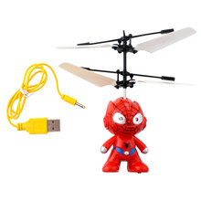Small RC Spider Man Aircraft Flying Minion Induction Helicopter Children Kid Baby Toys(China (Mainland))