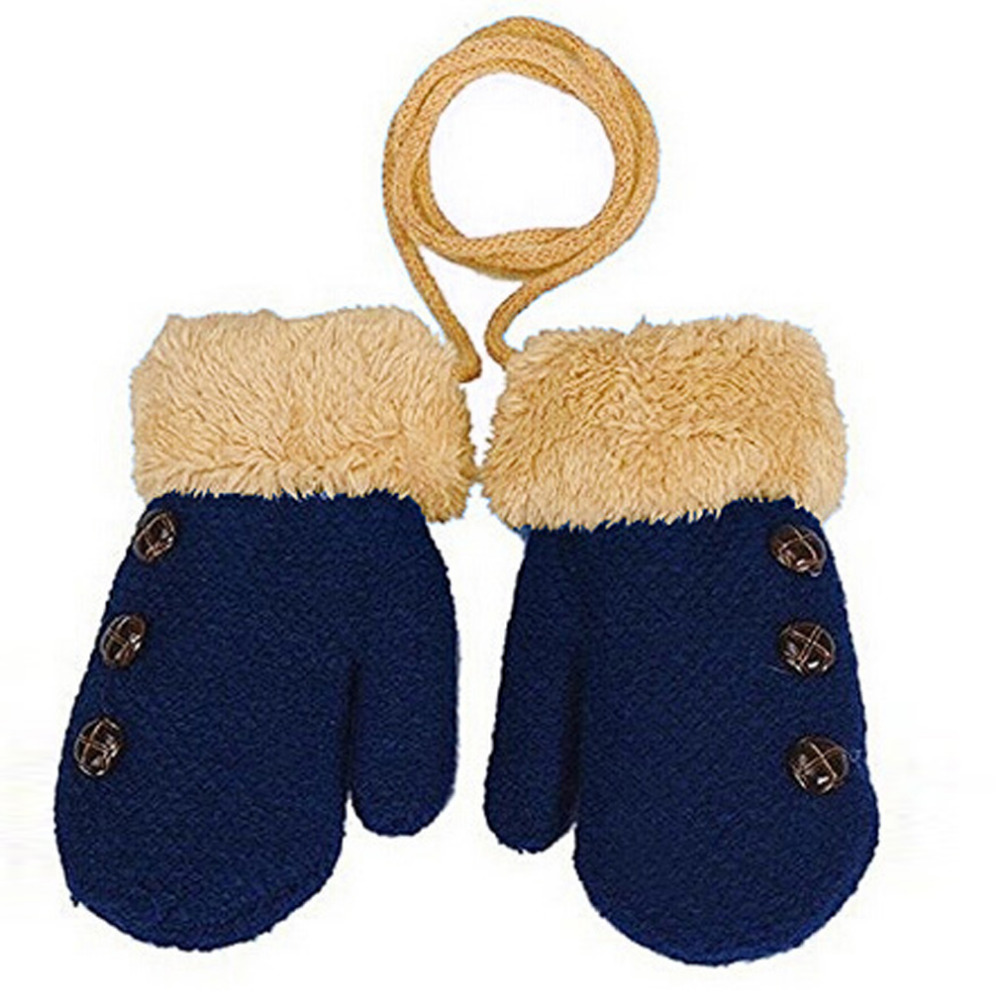 2016 New Children's Mittens Winter Wool Baby Knitted Gloves Children Warm Rope Baby Mittens For Children 1-3 years old(China (Mainland))