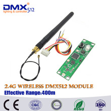 Free shipping Factory wholesale 2.4Ghz Wireless DMX512 Receiver,PCB Modules Board with Antenna LED Controller Wifi Receiver