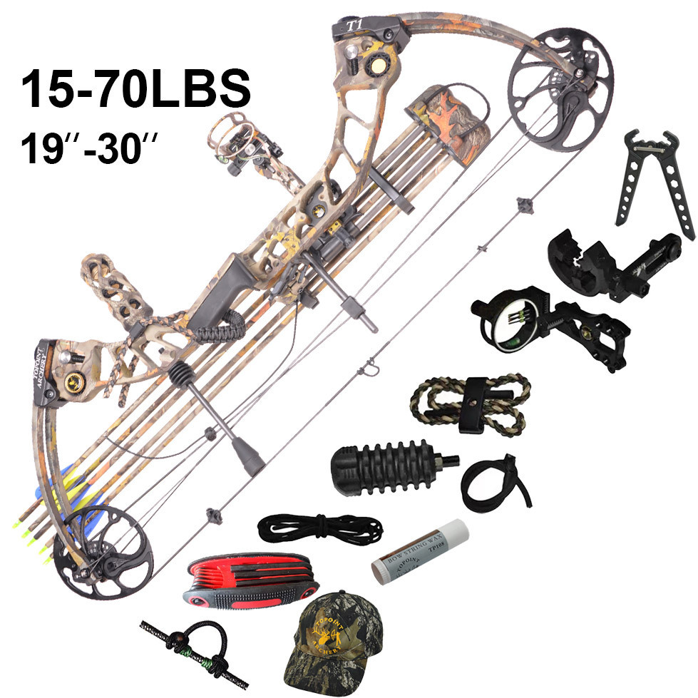2015 New design Hunting bow and arrow set compound bow archery bow sets camo and carbon