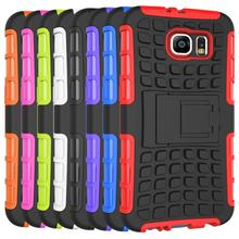 For Samsung Galaxy S6 Kickstand Case Heavy Duty Armor Shockproof Hybird Hard Soft Silicon Rugged Rubber Case S6 Cover G9200
