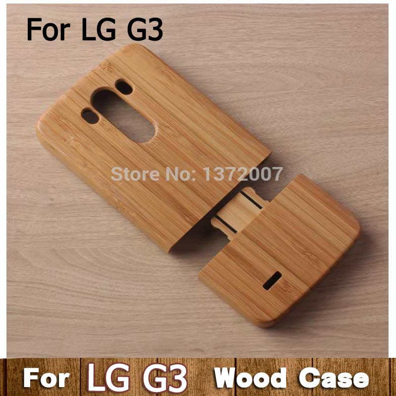 Phone Cases LG G3 Wood Case Genuine Bamboo Cover Luxury Wooden Back Cute Covers Fashion - Easy Electronic World store