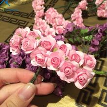 Buy Longpean 144pcs Mini Paper Rose Handmade Artificial Flower Wedding Decoration DIY Wreath Gift Scrapbooking Craft Fake Flower for $1.99 in AliExpress store