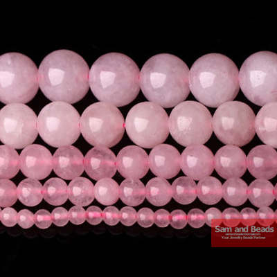 "Free Rose Pink Quartz Stone Beads 16"" Strand 4 6 8 10 12 14MM Pick Size Jewelry Making RPQB01"