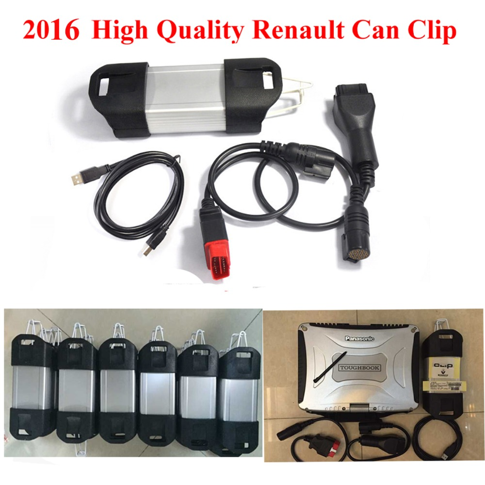 Hot Sell Renault Can Clip V157 +Panasonic CF-19 Military Laptop With Renault Diagnostic Interface OBD2 Diagnostic Tool(China (Mainland))