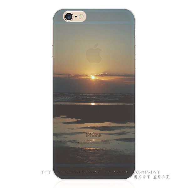 Sunset Seawater Magnificent Scenery Silicon Phone Cover Cases For Apple iPhone 6 iPhone 6S iPhone6 iPhone6S Case Shell FJI AD UT