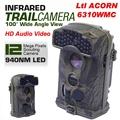 Free Shipping Brand Original Ltl Acorn 6310WMC 12MP HD 1080P 100 degree Wide View 940nm Trail