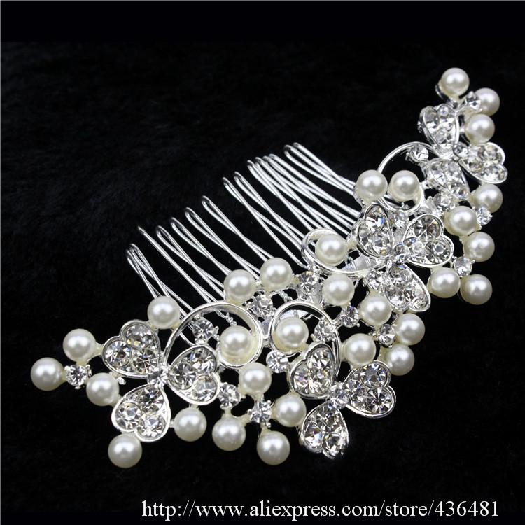 Crystal Rhinestone Hair comb Handmade Bulk Sale Factory outlets Bridal Accessory Women Wedding Jewelry