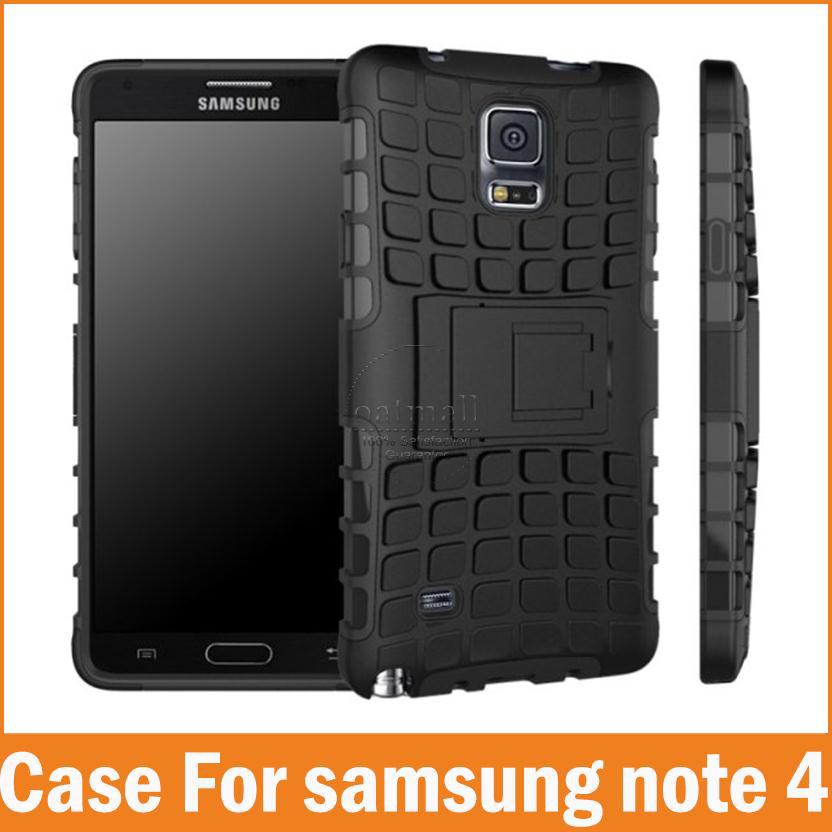 Note4 New Slim Duty 2 1 Hybrid Armor Capa Samsung Galaxy Note 4 Case Rugged Hard PC+TPU Kickstand Cover Holder Phone Bags - Oasis Trading Company LMT store