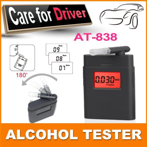 Mini цифровой спирт с 360 градусов вращающийся рупором / двойной дисплей спирт дыхания AT / 838