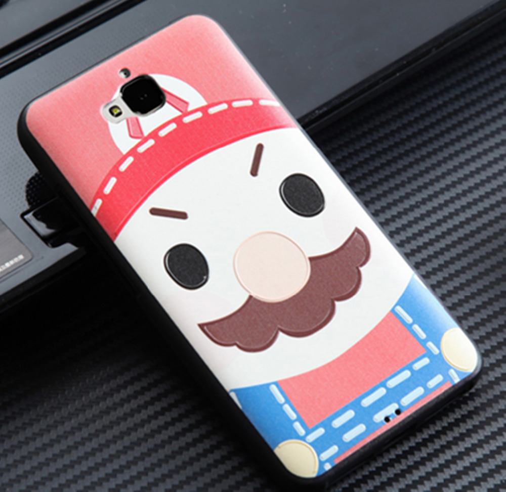3D relief Painting Back Cover Cases for Huawei Enjoy 5 Cases Caption America Silicone Covers for Huawei Enjoy 5 / Honor Play 5X(China (Mainland))
