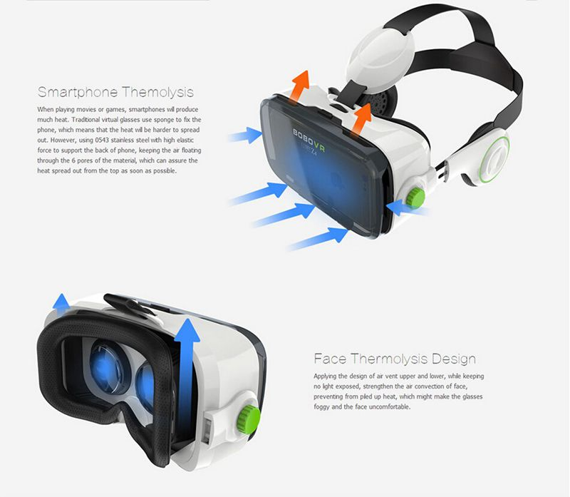 New come Google Cardboard bobovr z4 Virtual Reality Immersive 3D Glasses bobo vr z3 Upgraded With Headphone + Bluetooth  Gamepad (14)