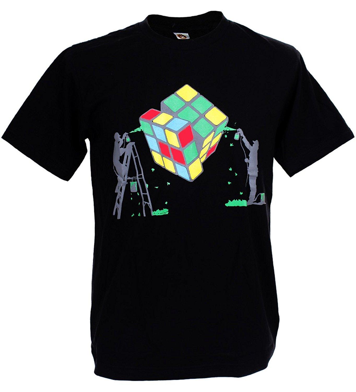 Design your t shirt for free - Design Your Own Shirt Printed T Shirts Tshirtmystyle Men S Rubik Painter Stencil Banksy Art T Shirt