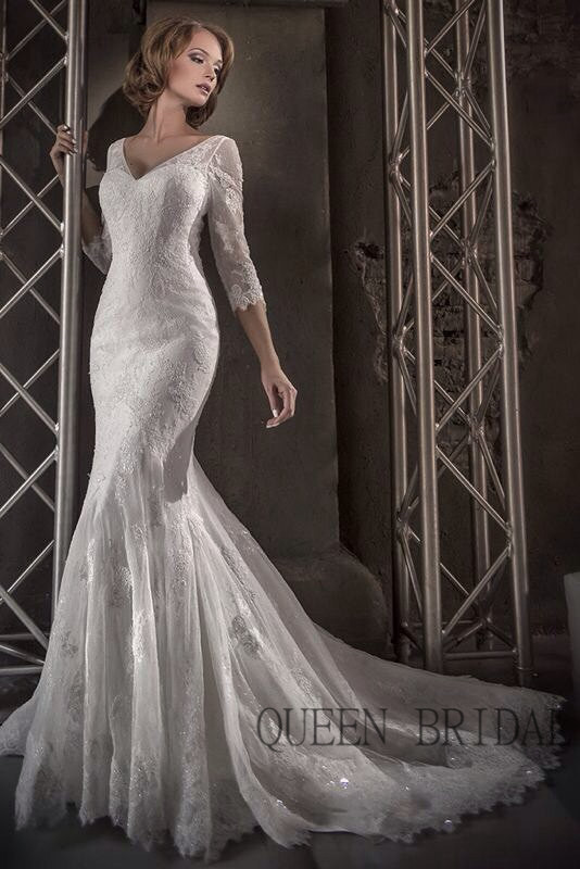 Buy v neck tulle lace mermaid wedding for Where to buy yasmine yeya wedding dresses