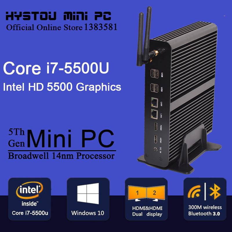 Micro Computer Intel Core i7 5500u 4500u Rugged Fanless Thin Client Mini PC Barebone Linux Server HTPC Windows TV Box 4K HD HTPC(China (Mainland))