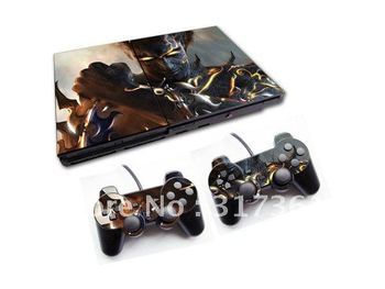 Skin Sticker with particular designs for PS2 console with 2 controllers, free shipping