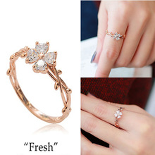 2015 New Fashion With Elegant Fair Maiden Temperament Clover Female Ring Ring 3 Colors Optional 925 Sterling Silver