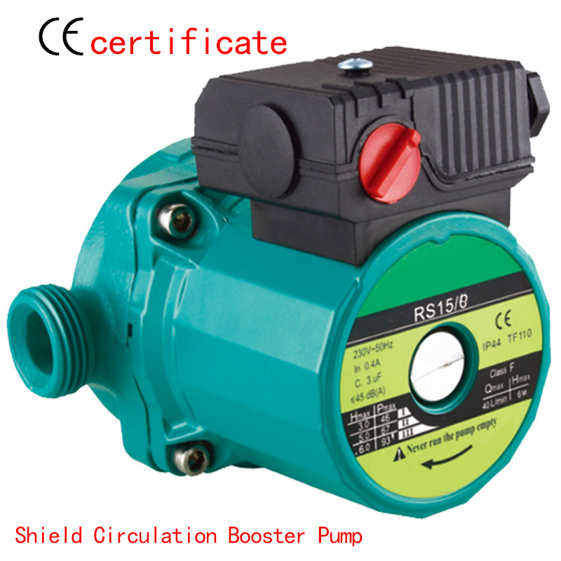 CE Approved shield circulating booster pump RS15-8, house warm water system, pressurized with industrial equipment,air condition(China (Mainland))