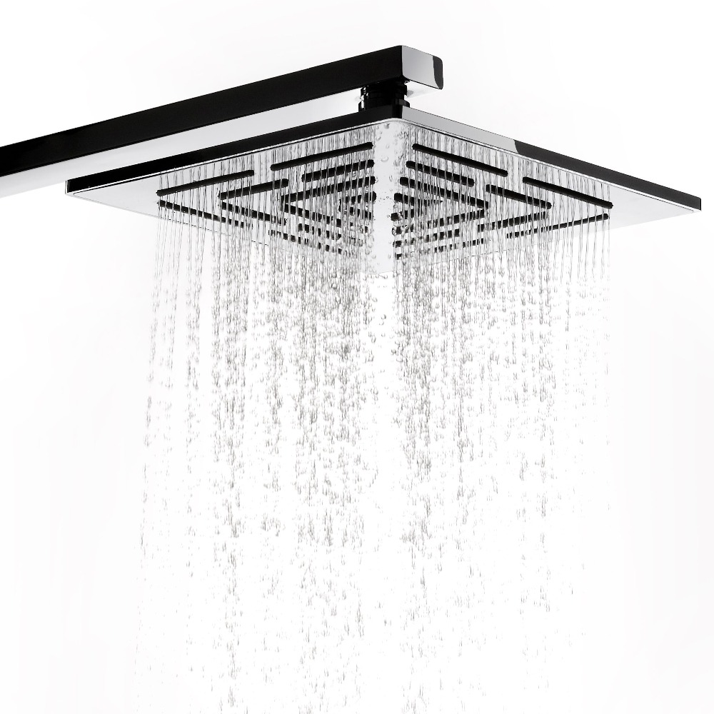 12 Inch (30 CM) Stainless Steel Square Rain Shower Head. 556 Holes Water Out Rainfall Showerheads (Not Including Shower Arm)(China (Mainland))