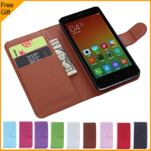 Luxury Original Wallet Leather Flip Case Cover For Xiaomi Redmi 2 Hongmi 2 Case Mobile Phone Shell Back Cover With Card Holder