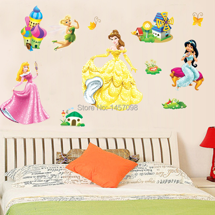 2015 removable children s room bedroom background wall youngspaces barbie wall stickers now in store