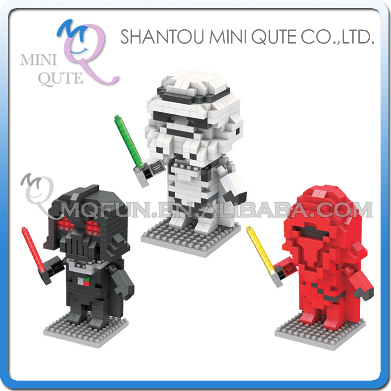 Wholesales 144 pcs/lot Mix 3 models Mini Qute BOYU star war Stormtrooper Darth Vader Empero Royal building block educational toy<br><br>Aliexpress