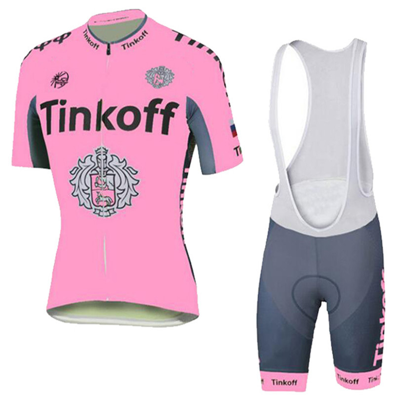 Cycling Saxo Bank Tinkoff Cycling Jersey women short set Polyester Lycra pink color Breathable Jersey Size XXS - 4XL(China (Mainland))