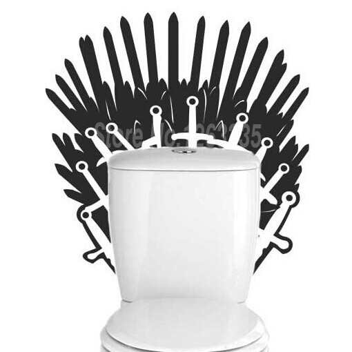 Game of Thrones Iron Throne Toilet Sticker