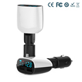 Dual USB Port Car Charger Adapter For Universal 5V 2 4A 1A LED Monitor Display For