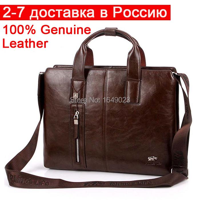 Leather Men bag Business Briefcase handbags office-bag men briefcase messenger bag Vintage Leather Laptop Computer Bag