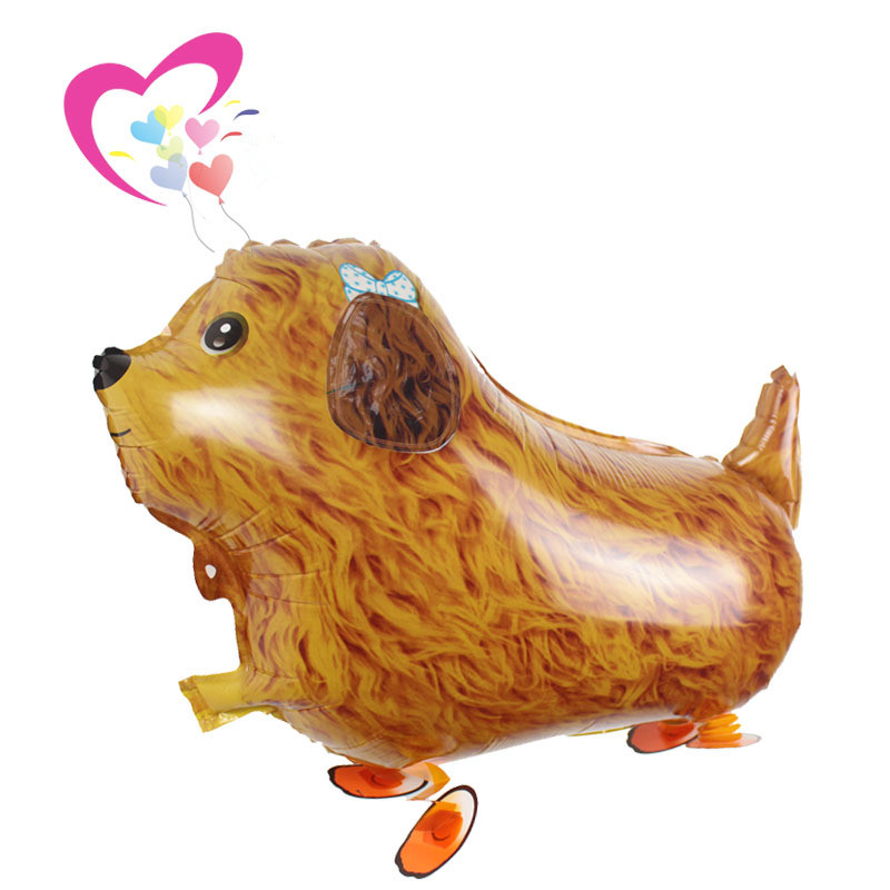 Walking Dog Foil Balloons, Walk The Dog Pet Shop Animals Style Inflatable Kids Toys Dog Ballons for Party Decortion Globos Gift(China (Mainland))