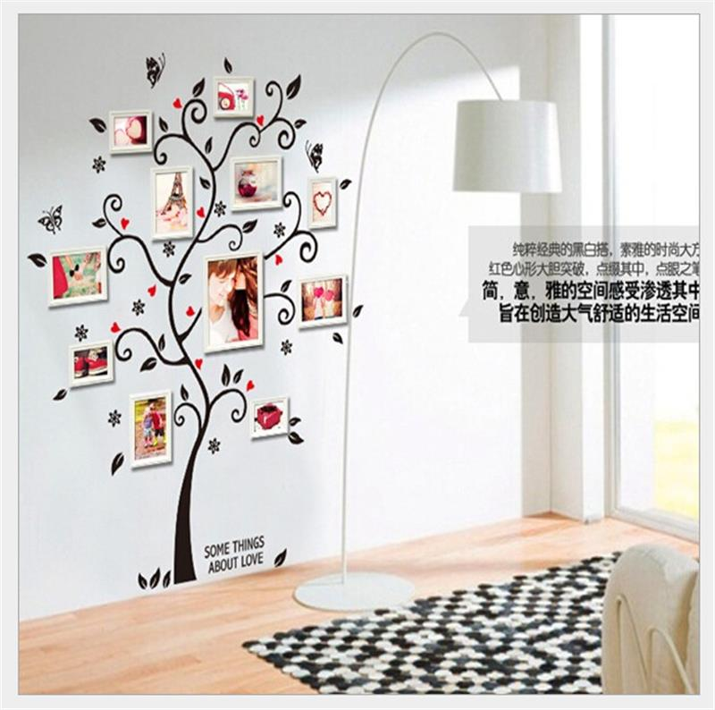 Photos family tree wall stickers quotes living room for Diy family tree wall mural