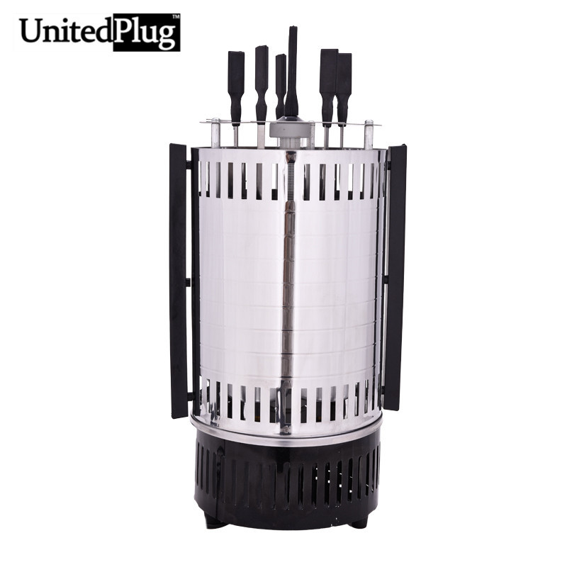 UnitedPlug electric grill indoor outdoor rotating bbq grill stainless steel infrared indoor grill electric barbeque grill BBQ-02(China (Mainland))