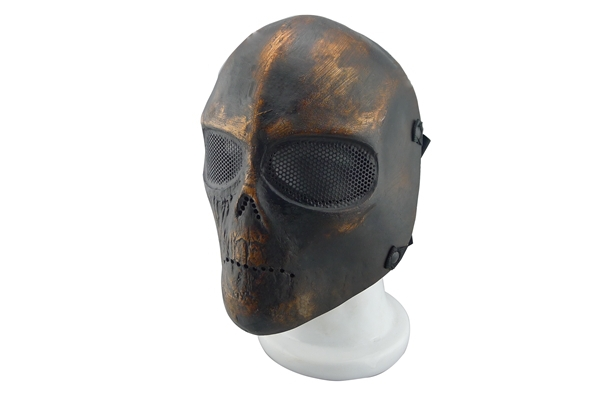 airsoft tactical military full face mesh skull eye army two mask - GMall store