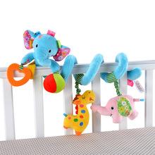 Passeggiatore di bambino appena nato giocattoli bella elephant lion modello baby bed attaccatura giocattoli educativi crepitio del bambino giocattoli(China (Mainland))