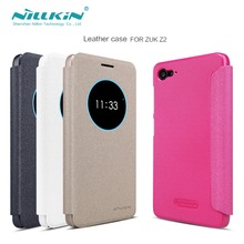 zuk z2 nillkin armor case Leather Case Original z2 Quality Hard PC Back Cover Flip Smart Sleep/Wake up phone bag case for z2 zuk(China (Mainland))