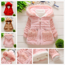 Buy NEW Girls Rabbit faux fur coat Wool sleeves Autumn/Winter Clothes Children Kids Toddler children's hooded outerwear jacket Warm for $10.40 in AliExpress store