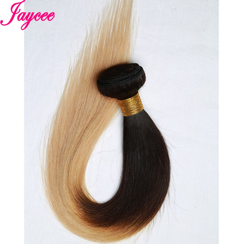 Ombre Hair With Closure 8A Indian ST Virgin Hair 1B#27 Bundles With Lace Closure Remy Straight Hair Weave Brown hair extension