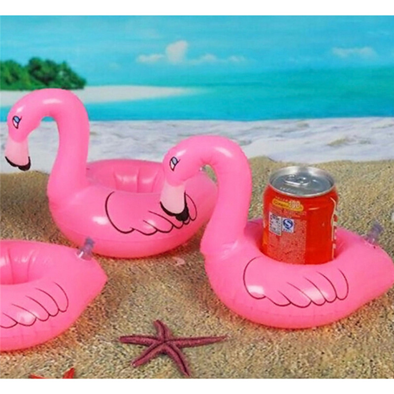 3Pcs/Set Mini Flamingo Floating Inflatable Coasters Drink Cell Phone Holder Stand Pool Event & Party Decoration Toy For Kids(China (Mainland))