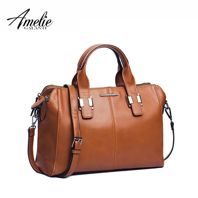 AMELIE GALANTI Fashion Brand Women Handbag pillow solid zipper soft casual top-handle bag high quality vintage 3 colors 2016