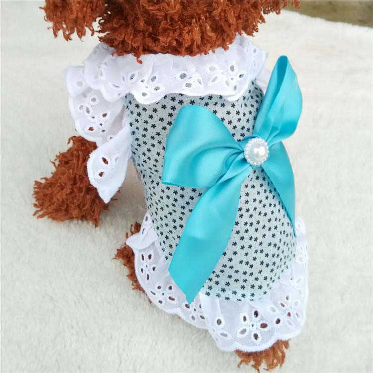 Summer New Cat Dog Clothes Puppy Dog Princess Dress Shirt With Nylon Lace Sexy Breathable Pet Clothing for Chihuahua Teddy XS S M L XL7