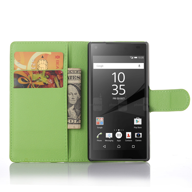 For Sony Xperia Z5 Compact Z5 Mini Case PU Flip Leather Stand Case For Sony Xperia Z5 Compact Z5 Mini With Card Holder