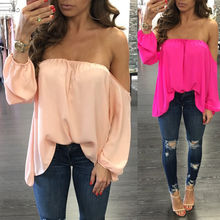 Buy Fashion Women Clothing Tops Summer Loose Casual Chiffon Shoulder Shirt Ladies Tops Blouse Summer Clothes Women for $4.87 in AliExpress store