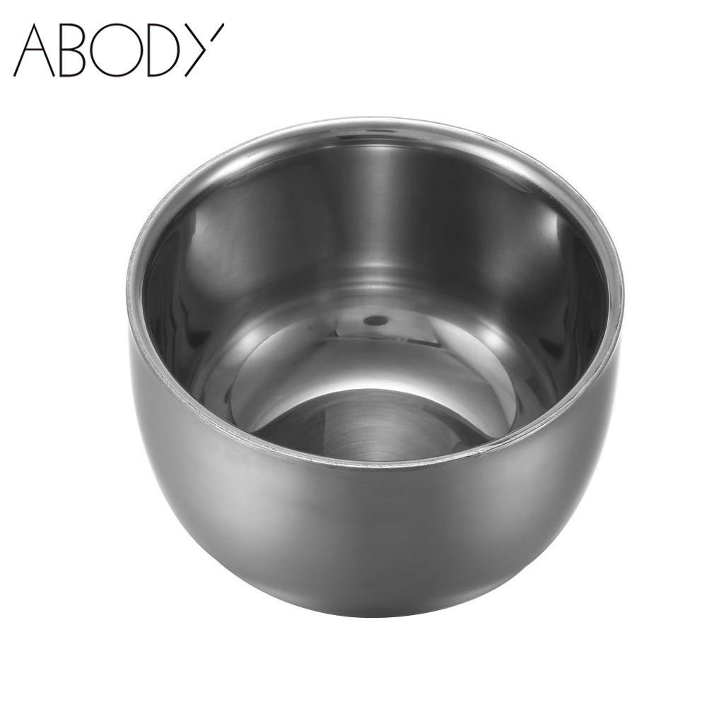 7.5cm Stainless Steel Shaving Bowl Barber Beard Razor Cup For Shave Brush Male Face Cleaning Soap Mug Tool Set Silver NEW(China (Mainland))