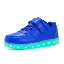 サイズ 25-37 子供 LED 少年少女のための USB 充電器 Schoenen 子供 Chaussure ランファン発光グローイングスニーカー光の唯一の(China)